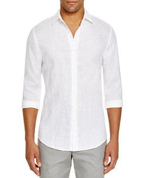 a85f390f27b The Men's Store at Bloomingdale's - Linen Chambray Shirt - 100% Exclusive