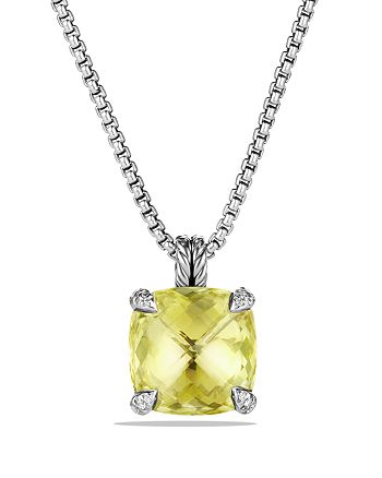 David Yurman - Châtelaine Pendant Necklace with Lemon Citrine and Diamonds