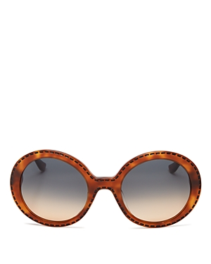 Moschino Whipstitch Oversized Sunglasses, 54mm