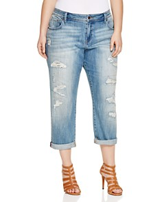 Lucky Brand Plus - Reese Distressed Boyfriend Jeans in San Marcos