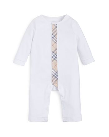 Burberry - Unisex Check Trim Coverall - Baby