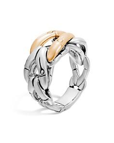 John Hardy Sterling Silver & 18K Gold Woven Ring - Bloomingdale's_0