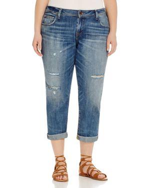 Lucky Brand Plus Reese Distressed Boyfriend Jeans in Northridge Park 1626093
