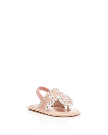 Jack Rogers - Girls' Baby Jacks Leather Slingback Sandals - Baby