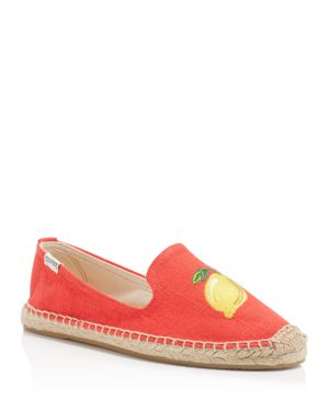 Soludos Lemon Smoking Slipper Espadrille Flats