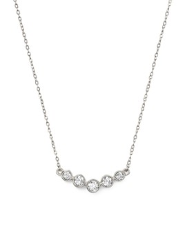 Bloomingdale's - Diamond Graduated Bezel Necklace in 14K White Gold, .25 ct. t.w.- 100% Exclusive