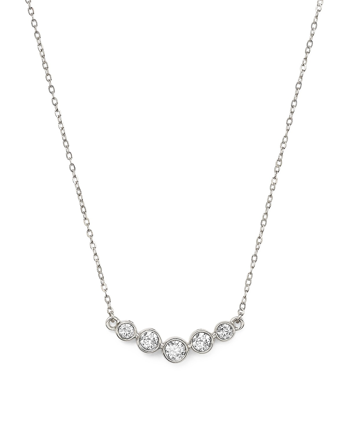 bezel graduated round ct product tennis half diamond inch necklace p