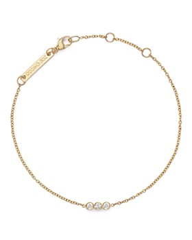 Zoë Chicco - 14K Yellow Gold Bracelet with Bezel-Set Diamonds