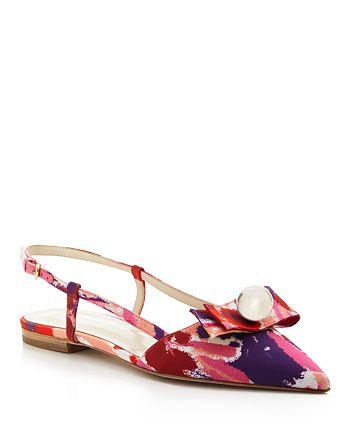 Frances Valentine - Caroline Slingback Pointed Toe Flats