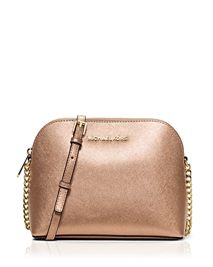 Michael Michael Kors Large Cindy Dome Metallic Crossbody
