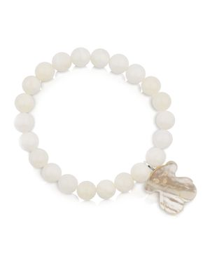 Tous Mother-of-Pearl Beaded Bracelet with Bear Charm