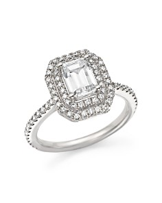 Bloomingdale's - Diamond Double Halo Solitaire Ring in 14K White Gold, 1.25 ct. t.w.- 100% Exclusive