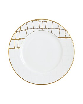 Prouna - Alligator Gold Swarovski Crystal Salad Plate
