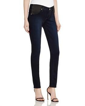 PAIGE - Skyline Skinny Maternity Jeans in Mona