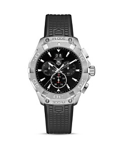 TAG Heuer Aquaracer Stainless Steel Chronograph with Rubber Strap, 43mm - Bloomingdale's_0