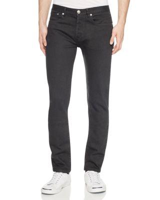 $A.P.C. Petit Standard Slim Fit Jeans in Noir - Bloomingdale's