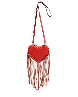 Rebecca Minkoff Heart Fringe Crossbody