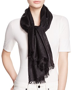 AQUA Solid Metallic Scarf - 100% Exclusive - Bloomingdale's_0