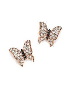 400160a05 Meira T 14K White Gold Diamond Butterfly Stud Earrings | Bloomingdale's