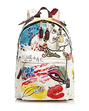 Marc Jacobs Collage Print Canvas Backpack