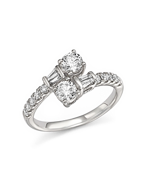 Diamond Bypass Ring in 14K White Gold, 1.0 ct. t.w. - 100% Exclusive
