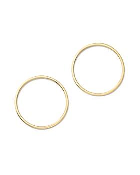 MATEO - 14K Yellow Gold Circle Earrings