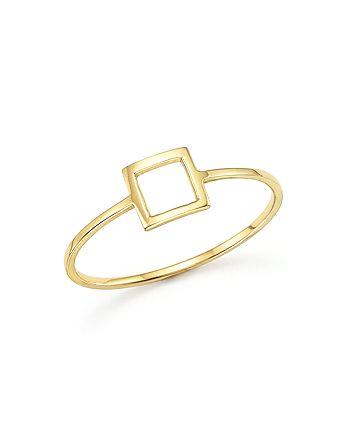 MATEO - 14K Yellow Gold Square Ring