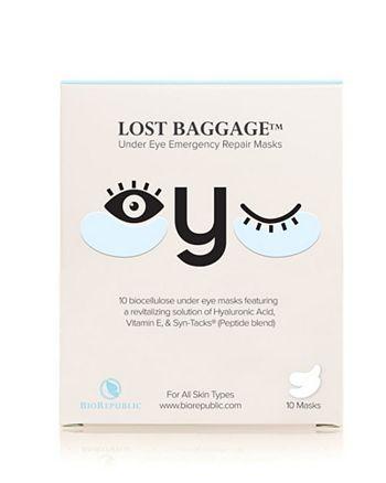 BioRepublic - Lost Baggage Under Eye Emergency Repair Mask, Box of 10 Pairs