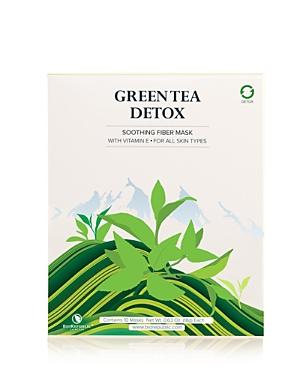 BioRepublic Green Tea Detox Purifying Fiber Sheet Mask, Box of 10