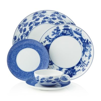 Blue Shou Tea Cup & Saucer