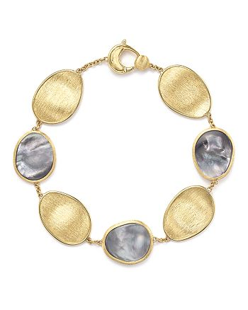 Marco Bicego - 18K Yellow Gold Lunaria Bracelet with Black Mother-of-Pearl - 100% Exclusive