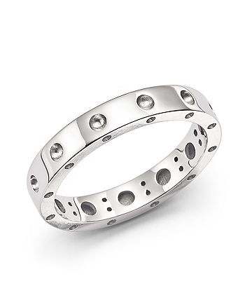 Roberto Coin - 18K White Gold Symphony Dotted Ring