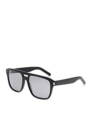Saint Laurent Thick Acetate Aviator Sunglasses, 56mm