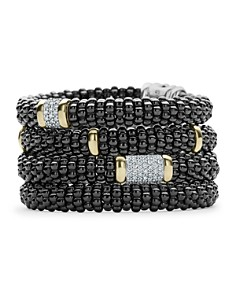 LAGOS Black Caviar Ceramic 18K Gold and Sterling Silver Bracelets - Bloomingdale's_0