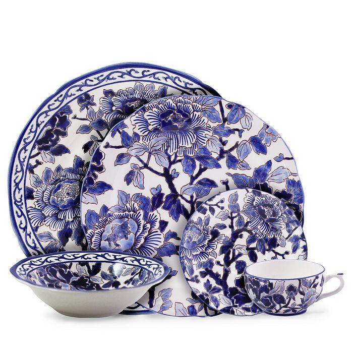 Gien France - Piviones Bleu Cereal Bowl