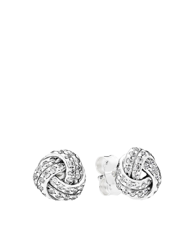 Pandora Women Silver Stud Earrings - 290696CZ mEewx