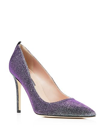 SJP by Sarah Jessica Parker - Women's Fawn Metallic Glitter Pointed Toe High-Heel Pumps - 100% Exclusive