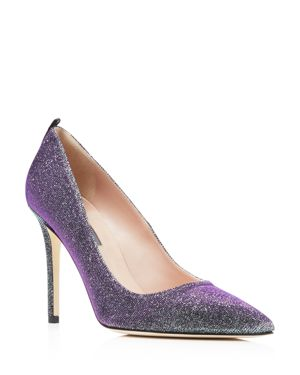 Sjp by Sarah Jessica Parker Fawn Metallic Glitter Pointed Toe High Heel Pumps - 100% Exclusive