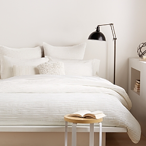 Dkny City Pleat White Duvet Cover, Twin
