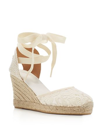 08bc01095d4 Soludos - Women s Lace Ankle Tie Espadrille Wedge Sandals
