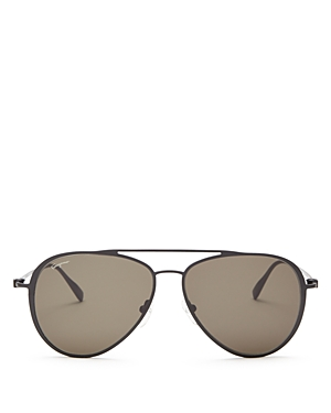 Salvatore Ferragamo Gancini Aviator Sunglasses, 57mm