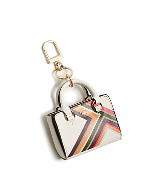 Tory Burch Robinson Multi-Stripe Mini Tote Bag Charm