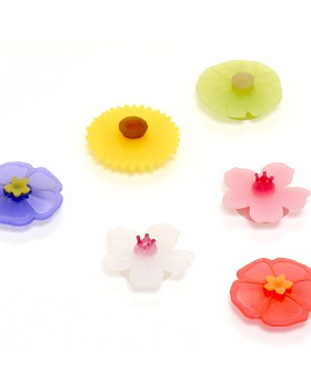 Charles Viancin - Floral Drink Markers, Set of 6
