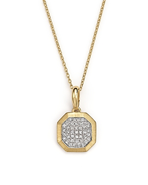 Kc Designs Diamond Pave Octagon Pendant Necklace in 14K Yellow Gold, .17 ct. t.w.