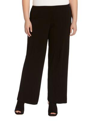 KAREN KANE PLUS Plus Size Matte Jersey Pull-On Pants in Black