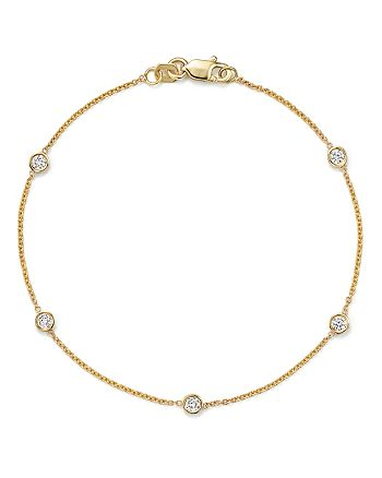 Bloomingdale's - Diamond Station Bracelet in 14K Yellow Gold, .25 ct. t.w.  - 100% Exclusive
