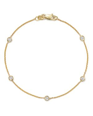 Diamond Station Bracelet in 14K Yellow Gold, .25 ct. t.w.
