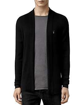 ALLSAINTS - Mode Merino Wool Open Cardigan Sweater