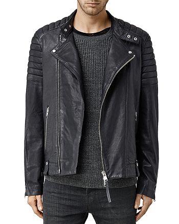 ALLSAINTS - Jasper Leather Slim Fit Biker Jacket