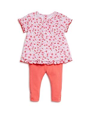 kate spade new york Infant Girls' Floral Top & Solid Leggings Set - Sizes 3-9 Months